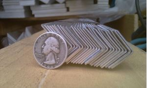 Picture of Aluminum Angle 5/8 x 5/8 x 48 in, 1/16 in thick,.625IN, 4 ft, 2 ft, New, USA!