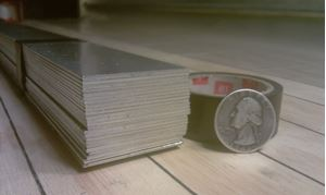 Picture of Aluminum Flat 1 1/2 x 48 in, 1/16 in thick,4 ft, New, USA!