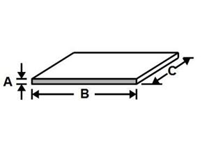 Picture of Aluminum Flat (Custom Width) x 48 in, 1/16 in thick, 4 ft, New, USA!