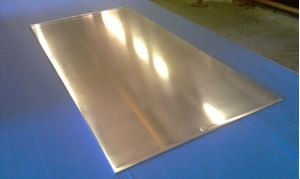Picture of Aluminum Flat 24 x 48 in, 1/8 in thick,. 4 ft, 3ft, 2 ft, 1 ft, New, .125 in., USA!
