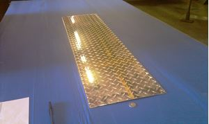Picture of Aluminum Diamond Plate Flat 12 x 48 in, 1/16 in thick,. 4 ft,  New, .062 In,  Hash Plate, Tread Plate, Tread Bright
