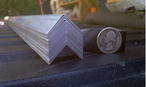 Picture of Aluminum Angle 3/4 x 3/4 x 48 in, 1/32 in thick,.75IN, New, USA! (Light Weight)