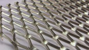 Picture of Aluminum Expanded Twisted Flat 3.375 x 48 in, 1/8 in thick, Opening .5 x 1.0In