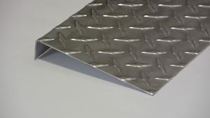 Picture of Aluminum Diamond Plate Angle Offset 1 x 6 x 48 in, 1/16 in thick,. 4 ft,  New, .062 In,  Hash Plate, Tread Plate, Tread Bright