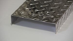 Picture of Aluminum Diamond Plate C-Channel 1.5 x 6 x 1.5 x 48 in, 1/16 in thick,. 4 ft,  New, .062 In,  Hash Plate, Tread Plate, Tread Bright
